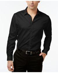 INC International Concepts | Black Men's Jayden Non-iron Shirt, Only At Macy's for Men | Lyst