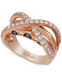 Le Vian - Multicolor Chocolatier Chocolate And Vanilla Diamond Ring (9/10 Ct. T.w.) In 14k Rose Gold - Lyst