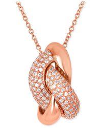Le Vian - Multicolor Vanilla Link'ing Diamond Pendant Necklace (1/2 Ct. T.w.) In 14k Rose Gold - Lyst