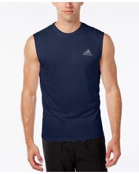 Adidas Originals   Blue Men's Climalite Sleeveless T-shirt for Men   Lyst
