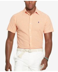 Polo Ralph Lauren | Natural Men's Gingham Seersucker Short-sleeve Shirt for Men | Lyst