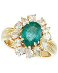 Rare Featuring Gemfields - Metallic Certified Emerald (3/4 Ct. T.w.) And Diamond (1-1/8 Ct. T.w.) Ring In 14k Gold - Lyst