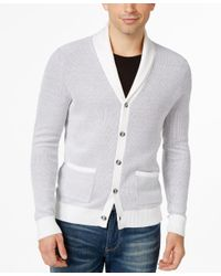 INC International Concepts | White Men's Cleat Hitch Cardigan, Only At Macy's for Men | Lyst