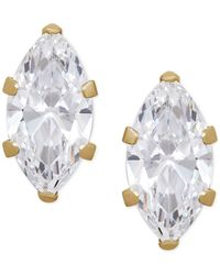 Macy's - Multicolor Marquise Cubic Zirconia Crystal Stud Earrings In 14 K Gold Or 14k White Gold - Lyst