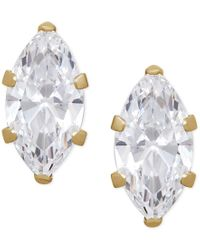 Macy's | Multicolor Marquise Cubic Zirconia Crystal Stud Earrings In 14 K Gold Or 14k White Gold | Lyst