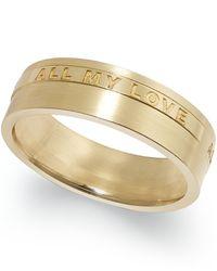 Macy's | Metallic All My Love 6mm Wedding Band In 18k Gold | Lyst
