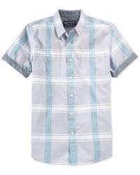 American Rag   Blue Men's Plaid Shirt, Only At Macy's for Men   Lyst