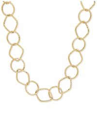Macy's | Metallic Flat Rolo Chain Necklace In 14k Gold | Lyst