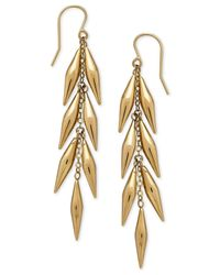 Macy's | Metallic Vine-inspired Linear Drop Earrings In 14k Gold | Lyst