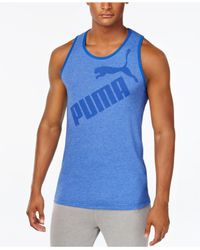 PUMA | Blue Men's Tank Top for Men | Lyst