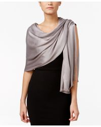 INC International Concepts | Gray Wrap & Scarf In One, Only At Macy's | Lyst