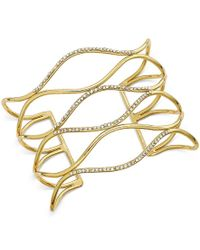 INC International Concepts | Metallic Silver-tone Pave Open Cuff Bracelet, Only At Macy's | Lyst
