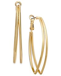INC International Concepts | Metallic Pointed Double Hoop Earrings, Only At Macy's | Lyst