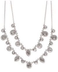 Givenchy | Metallic Multi-crystal Layer Necklace | Lyst