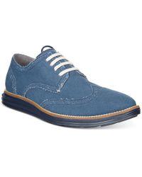 Cole Haan - Men's Original Grand Decon Blue Oxfords for Men - Lyst