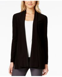 Eileen Fisher | Black Open-front Cardigan | Lyst