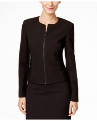 Calvin Klein | Black Fit Solutions Zip-front Side-panel Jacket, Only At Macy's | Lyst