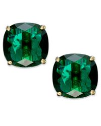 Kate Spade | Green Square Stud Earrings | Lyst