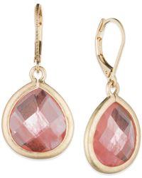 Lonna & Lilly | Red Large Teardrop Stone Drop Earrings | Lyst