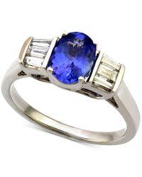 Macy's | Metallic Tanzanite (1-1/5 Ct. T.w.) And Diamond (1/3 Ct. T.w.) Ring In 14k White Gold | Lyst
