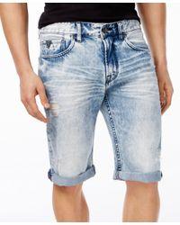 Guess - White Men's Classic-fit Achieve Wash Denim Shorts for Men - Lyst