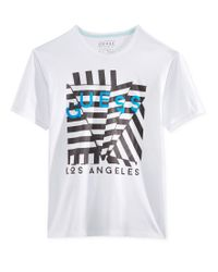 Guess - White Men's Origami Graphic-print Logo T-shirt for Men - Lyst
