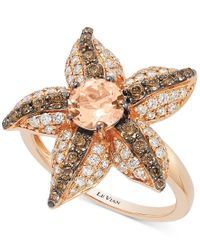 Le Vian | Pink Chocolatier Peach Morganite (5/8 Ct. T.w.) And Diamond (7/8 Ct. T.w.) Starfish Ring In 14k Rose Gold | Lyst