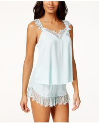 Betsey Johnson | Blue Lace-trim Tank And Shorts Set 7311113 | Lyst