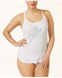Betsey Johnson | White Plus Size Bride And Bridal Party Tank Tops | Lyst