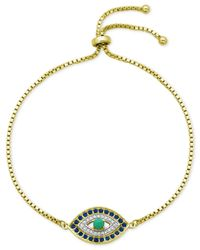 Giani Bernini | Metallic Cubic Zirconia Evil Eye Slider Bracelet In Sterling Silver | Lyst
