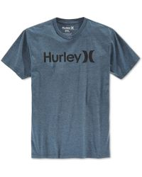 Hurley | Blue Men's One And Only Premium Tonal Graphic-print Logo T-shirt for Men | Lyst