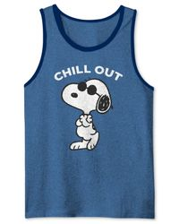Jem - White Men's Peanuts Snoopy Chill Graphic-print Tank for Men - Lyst