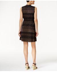 Tommy Hilfiger - Brown Striped Dot-print Shirtdress - Lyst