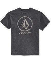 Volcom | Gray Men's Corpo Push Graphic-print Logo T-shirt for Men | Lyst