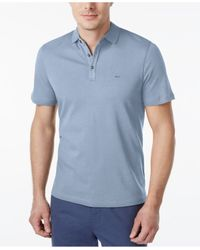 Michael Kors | Blue Men's Liquid Polo Shirt for Men | Lyst
