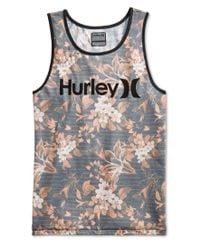 Hurley - Gray Men's Meadowlark Floral Graphic-print Logo Tank for Men - Lyst