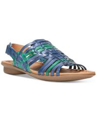 d4a74f0fd29d Lyst - Naturalizer Westerly Flat Sandals in Blue