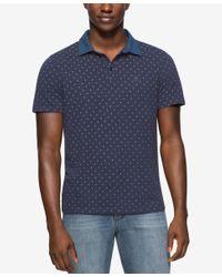 Calvin Klein Jeans - Blue Men's Diamond Dot Polo Shirt for Men - Lyst