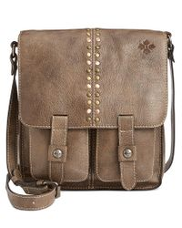 Patricia Nash | Gray Washed Denim Armeno Messenger for Men | Lyst