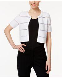 Calvin Klein | White Short-sleeve Illusion Inset Shrug | Lyst