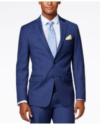 Calvin Klein | X-fit Blue Solid Slim Fit Jacket for Men | Lyst
