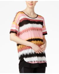 Kensie - Multicolor Noisy Stripe Layered Top - Lyst