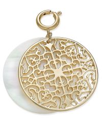 INC International Concepts - Metallic M. Haskell For Inc Gold-tone Filigree And Shell-look Clip-on Pendant, Only At Macy's - Lyst