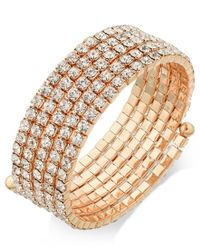 INC International Concepts | Metallic Gold-tone Crystal Coil Bracelet, Only At Macy's | Lyst