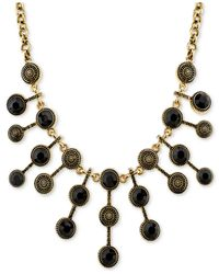 2028 | Metallic Silver-tone Antique-look Jet-stone Statement Necklace, A Macy's Exclusive Style | Lyst