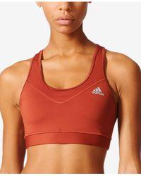 Adidas Originals | Red Techfit Climacool Mid-impact Sports Bra | Lyst