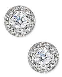 Danori | Metallic Silver-tone Multi-crystal Stud Earrings, Only At Macy's | Lyst