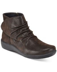 Clarks   Brown Collection Women's Cloud Steppers Sillian Chell Booties   Lyst