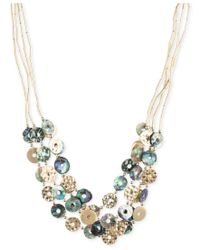 Lonna & Lilly | Metallic Gold-tone Tube Chain Multi-disc Collar Necklace | Lyst