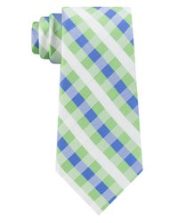 Tommy Hilfiger - Green Derby Small Gingham Silk Tie for Men - Lyst